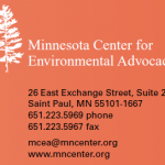MN Center for Environmental Advocacy Comments to the USACE re: Fargo Moorhead Dam and Diversion
