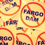 FREE NO Fargo Dam Sticker