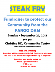 MNDak Upstream Coalition Fundraiser Sept 22nd, 2013