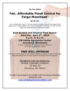 MnDak Fundraiser April 5th, 2014