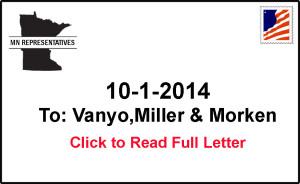 MN Representative to Vanyo, Miller and Morken