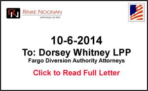 Richland Wilkin JPA response to Fargo Diversion Authority