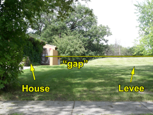 South Fargo Home in Levee Alignment