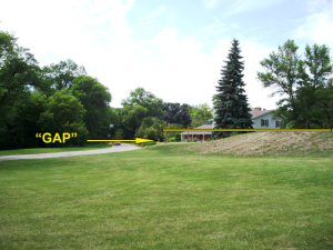 GAP in Fargo Flood Protection (near Lindenwood Park)