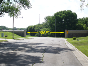 GAP in Moorhead Flood Protection (near I-94)